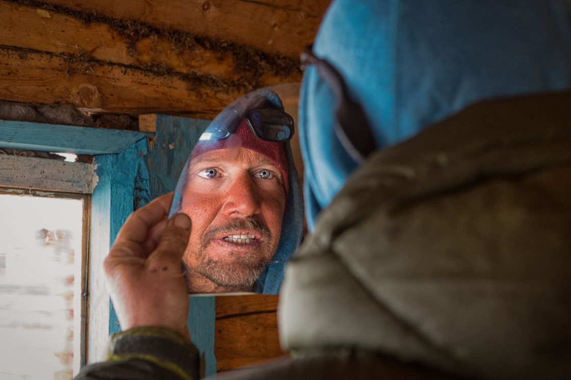 After a few weeks away from reflective surfaces, Forrest McCarthy discovers a piece of mirror at Boojum lodge.