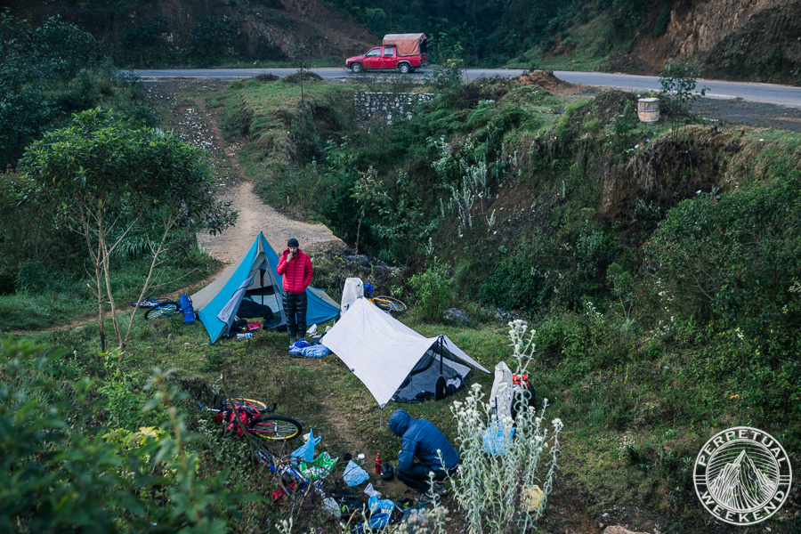 Roadside camping near Chichiquila