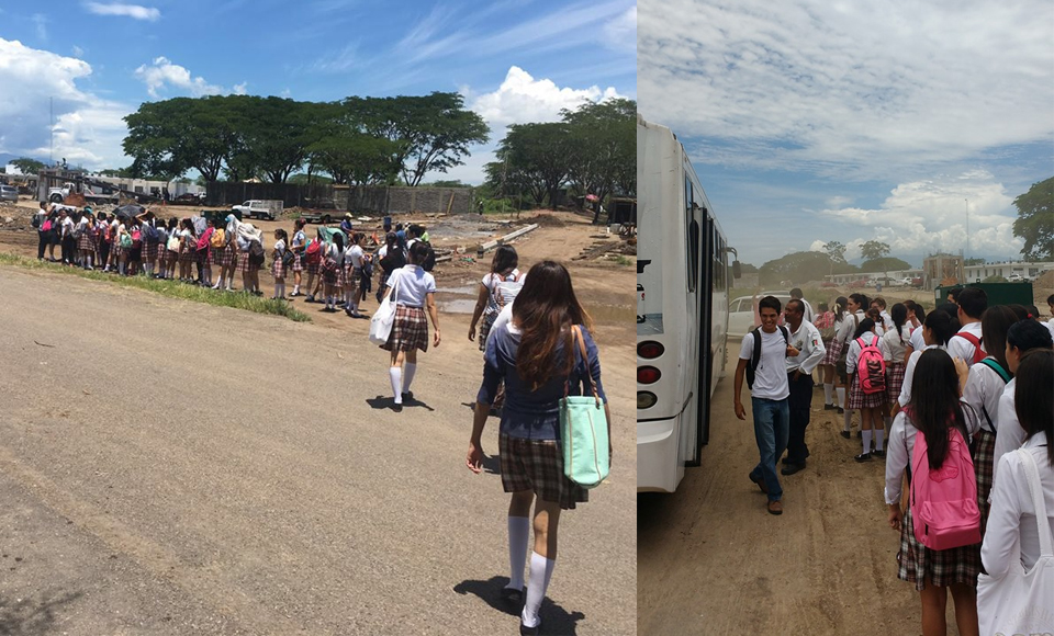 Alumnos del Isenco esperan hasta 1 hora el camión