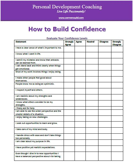 Worksheets Self Awareness Worksheets personal development worksheets free how to build confidence new