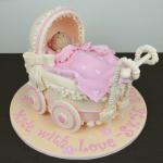3D Baby Pram Cake