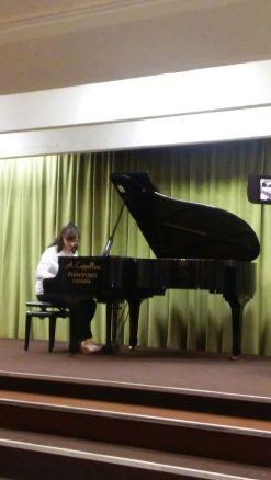 Samantha Vergata al concerto di premiazione dei vincitori