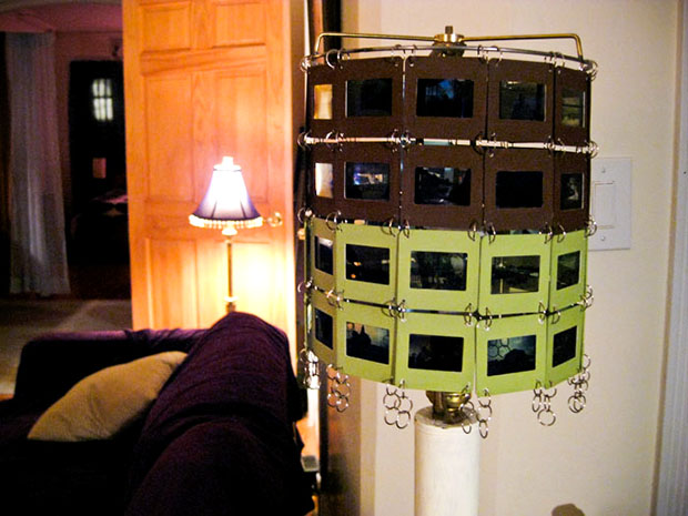 Recycled Slide Film Lamp Shade lampshade2