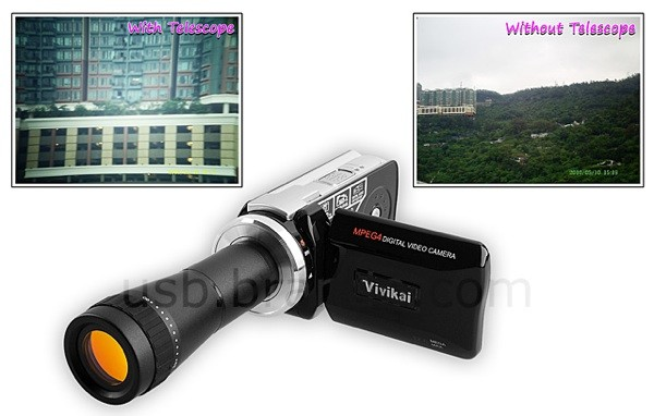 Camcorder with Telescopic Lens for $100  brando telescope 05 14 2010