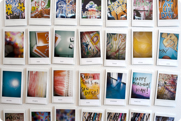 Put Instant Photos to Creative Practical Use fridgecalendar