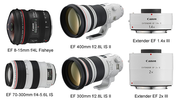 Canon Unleashes Four New L Lenses and Two Extenders canonllenses