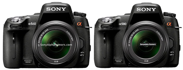 Sony Alpha A560 and A580 DSLR Photos and Specs Leaked sony560580