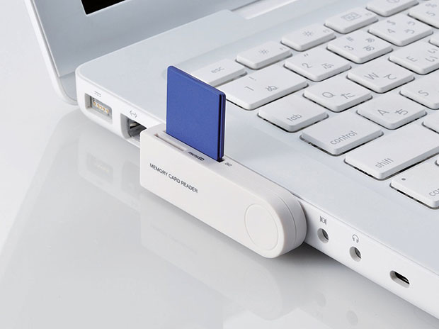 Rotating Memory Card Reader You Can Keep Attached to Your Laptop sdreader