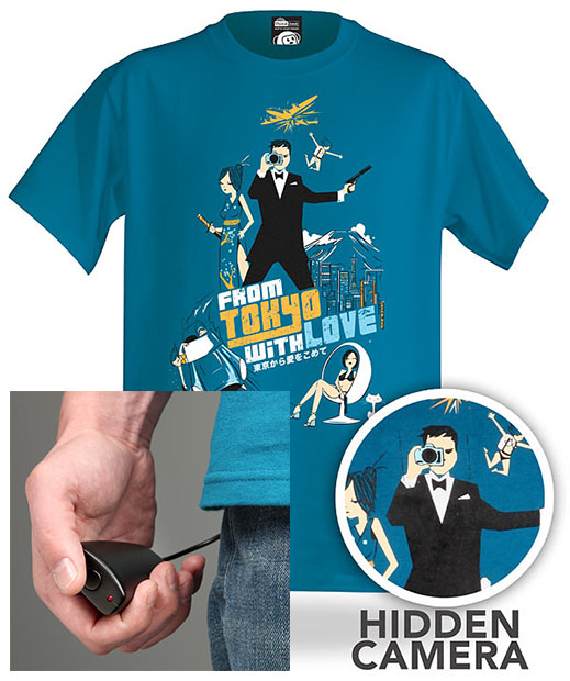 Spy T Shirt with a Built In Spy Camera spytshirt