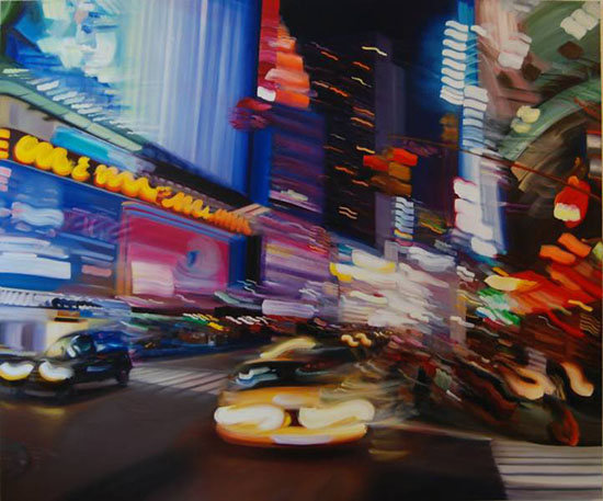 Oil Paintings That Mimic Long Exposure Night Photos longex1