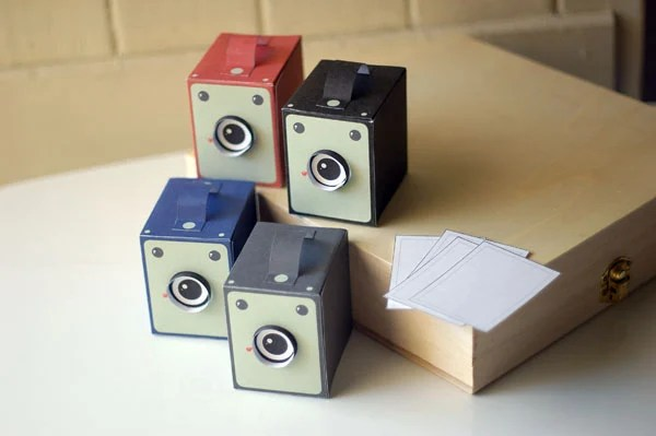 Printable Vintage Box Camera Papercraft printboxcam