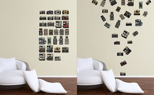 Pixelated Camera Decals for Your Wall cameradecals
