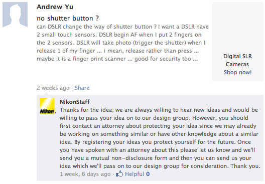 How Nikon (And Other Big Companies) Responds to Design Suggestions nikonsuggestion
