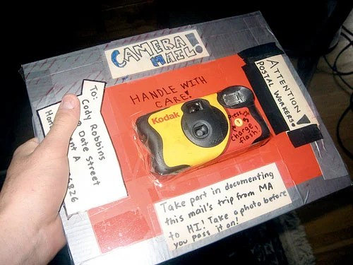 Disposable Camera Captures Its Own Trip Across the United States cameramail