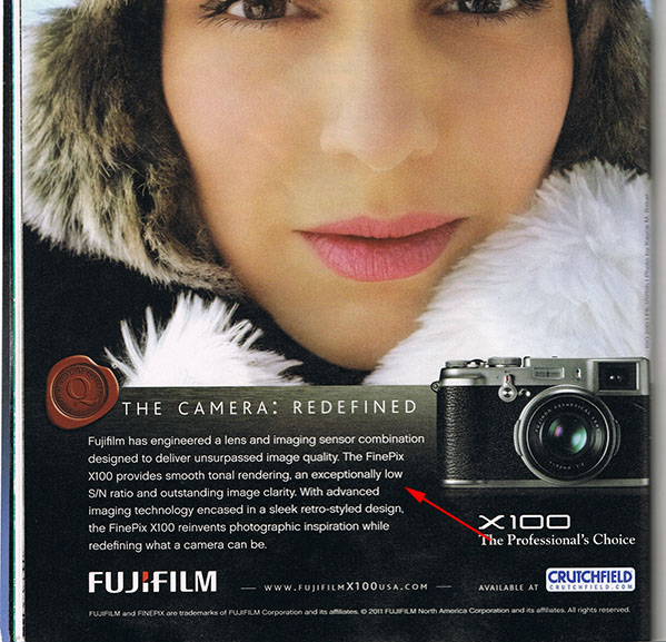 Advertising Fail: Fujifilm Disses the X100 lowsn