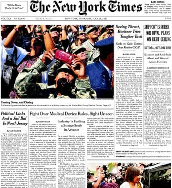Photog Who Lost Legs to Land Mine Back to Work and Front Page of NYTimes nytimes