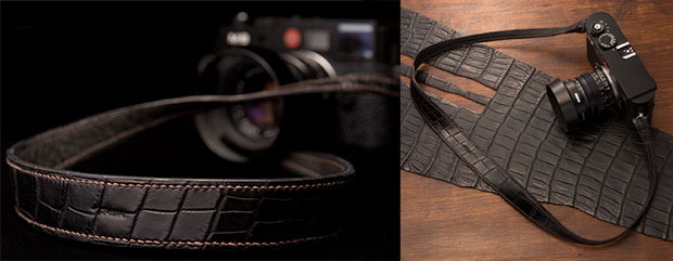 Handmade Crocodile Hide Camera Straps crochide