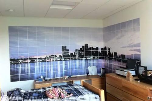 Give Your Room a Beautiful Skyline View Using an Ordinary Printer dormwall mini