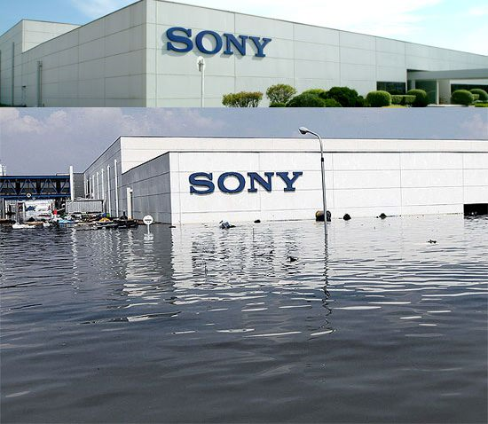 Sonys Sensor Manufacturing Plant Hit Hard by Thailand Floods sonyflooded mini