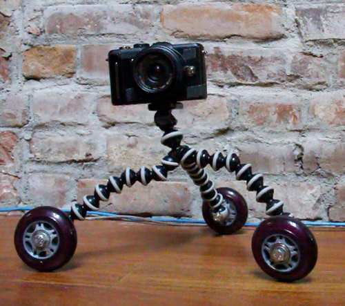 How to Build Your Own Cineskates Using a Gorillapod and Rollerblade Wheels Tripod Dolly mini