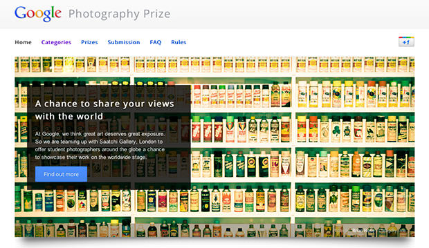 Google Launches Photo Contest to Find the Stars of the Future googleprize mini