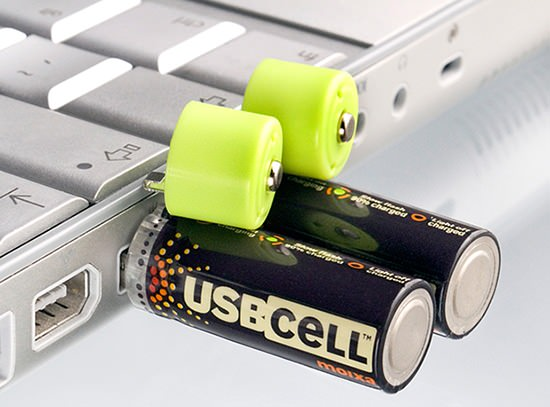 USBCELL: Rechargeable Batteries That Suck Juice From USB Ports usbcell mini