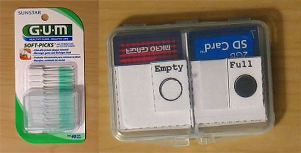 Turn a Sunstar Soft Picks Case into a DIY SD Card Holder sdcard mini