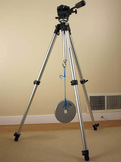 Give Your Tripod Some Extra Stability By Adding a Weight Hook tripodweight mini