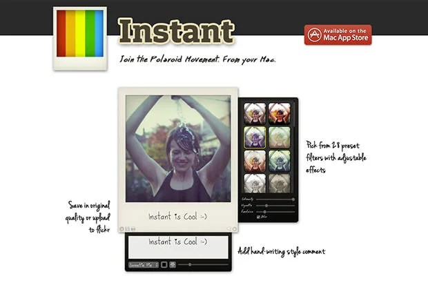 Polaroid Instant App Brings Instagram Style Filters to Your Mac polaroidapp mini