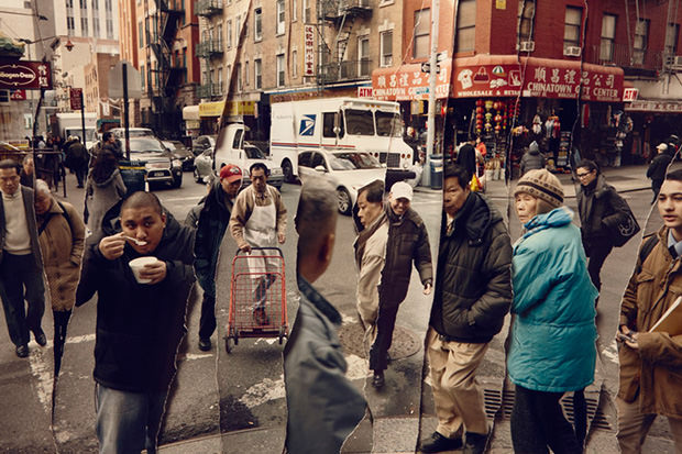 Ripped Photo Collages That Show People in Locations Across Time time5 mini