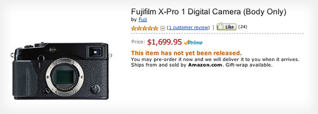 Fujifilm X Pro1 Priced at $1700 For US Residents, Available for Preorder xpro1 mini