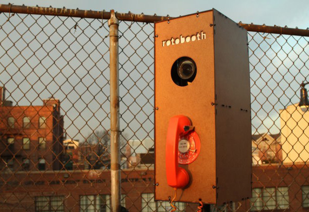 Rotobooth is a Photo Booth Powered by a Rotary Phone roto mini