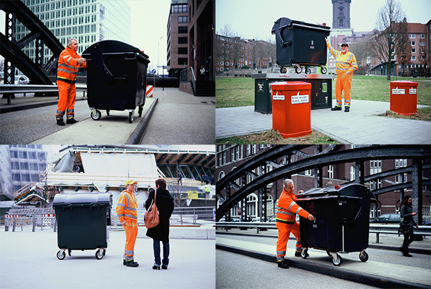 German Garbage Men Turn Dumpsters Into Giant Pinhole Cameras trash mini