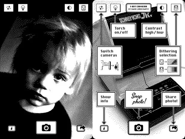 1 Bit Camera App Harkens Back to the Old Nintendo Gameboy Camera onebit 1 mini
