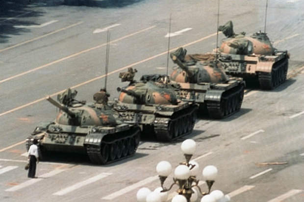 The Famous Tiananmen Square Tank Man Photo From Slightly Different Views tankman mini