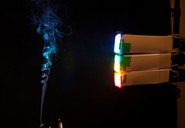 Shoot Rainbow Smoke Using Color Gels rainbow1 mini