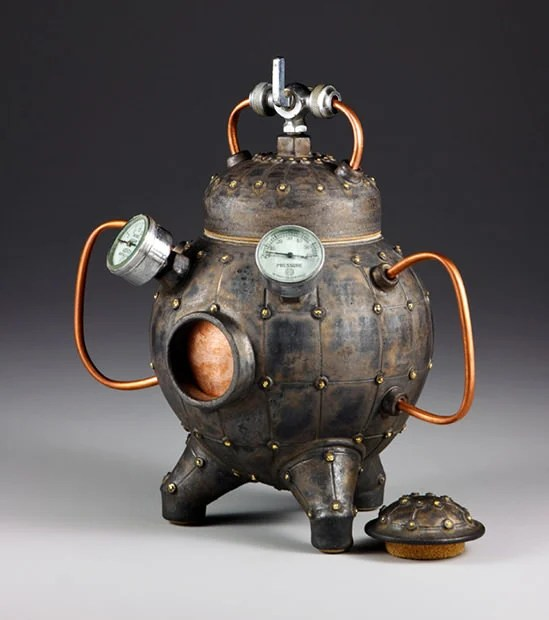 A Ceramic Pinhole Camera That Looks Like an Old School Diving Suit ceramic1 mini