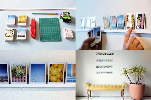 Decorate Your Wall With Pictures Using a DIY Photo Ledge ledge