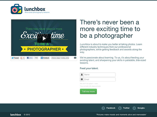 Lunchbox Combines Online Photography Learning with Game Mechanics lunchbox1