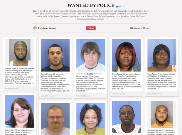 Perp Pics Posted to Pinterest Lead to an Uptick in Arrests perpics