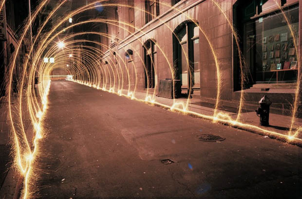 Beautiful Light Painting Photos Created on the Streets of NYC in the 1970s staller1