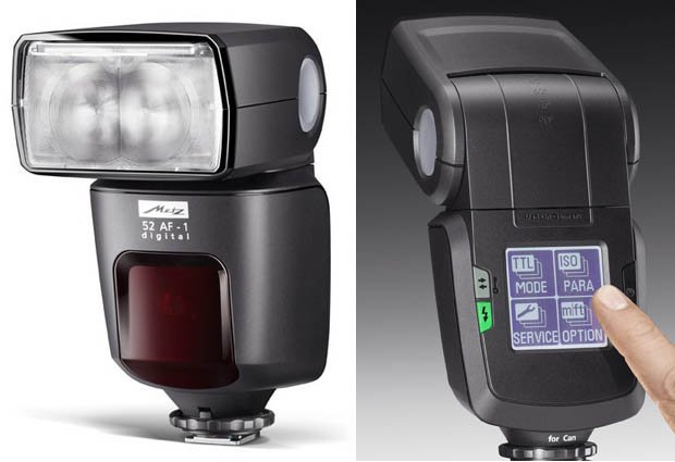 Metz 52 AF 1: The Worlds First Hot Shoe Flash with a Touchscreen Interface touchflash