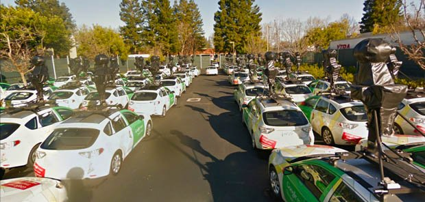 A Glimpse of Googles Fleet of Camera Equipped Street View Cars steetview