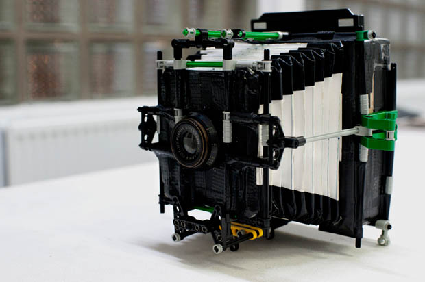 A Homemade Autochrome Camera Made with Lego, Cardboard, and Duct Tape autolego 5