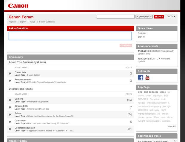 Canon Launches Its Own Forum to Give Canonites a Safe Place to Chill Online canonforums