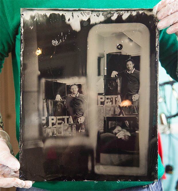 Mirror Self Portrait Captured Using a Wet Plate Camera wetplateselfie5