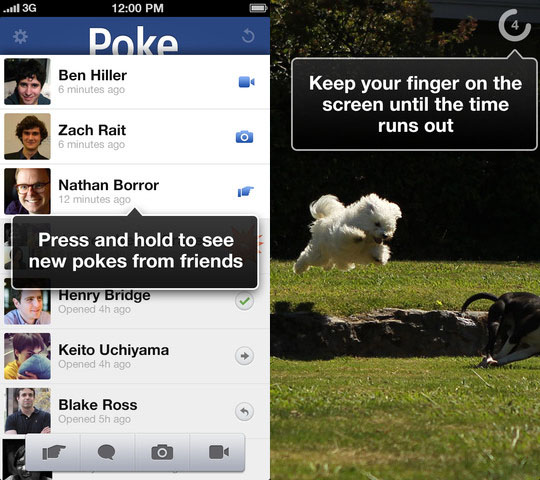 Facebook Launches Snapchat like Poke App For Sending Self Destructing Pics fbpokeapp1
