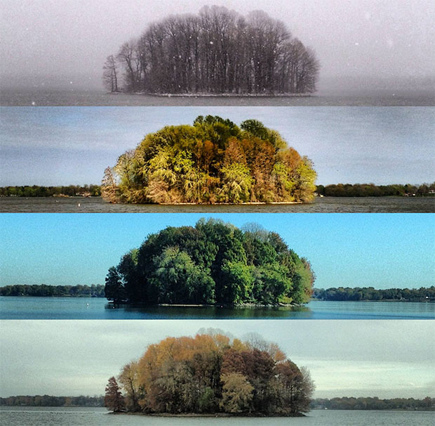 Photos of an Island Across Four Seasons fourseasons