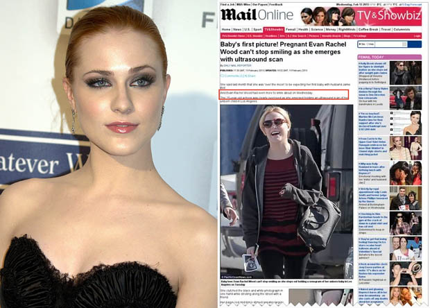 Actress Evan Rachel Wood Furious After Ultrasound Snap Snapped by Paparazzi evanrachelwoodultrasound
