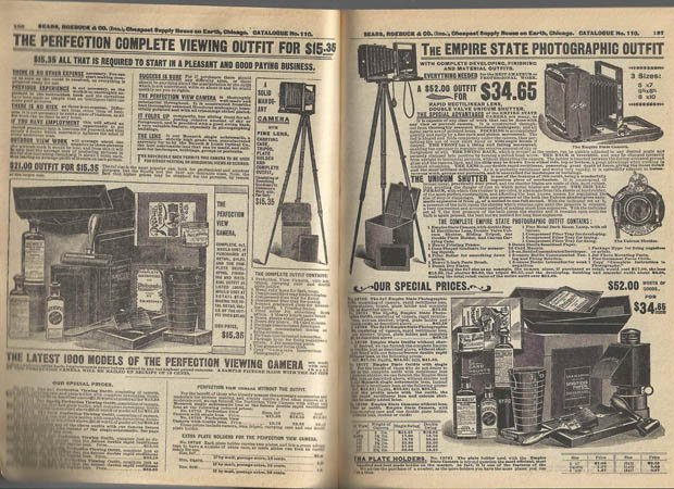 A Complete Professional Photography Kit for $15.35... Back in the Year 1900 searscatalog1900